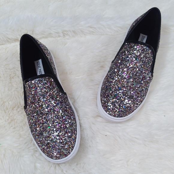 Steve Madden Ecentriq Glitter Slip Ons